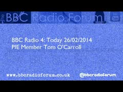 The Today Programme Talks To PIE Member Tom O Carroll